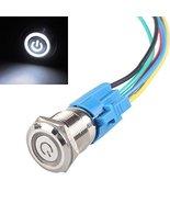 E Support 19mm 12V 5A Power Symbol Angel Eye Halo Car White LED Light Me... - $6.95
