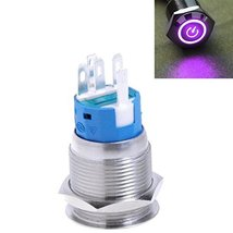 E Support 19mm 12V 5A Power Symbol Angel Eye Halo Car Purple LED Light Metal ... - $6.48