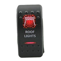 E Support Car Red LED Roof Light Toggle Switch - $6.57