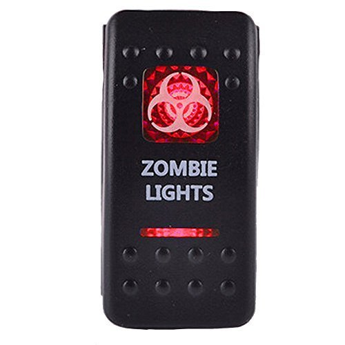 E Support Car Red LED Zombie Light Toggle Switch - $6.57