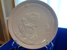 "Frankoma 8.25"" Pottery Plate ""Birth of Eternal Life"" 1977 Joniece Frank - $5.25"