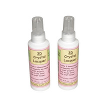 2 Bottles Sakura Hobby 3D Crystal Clear Acrylic Lacquer 4oz 01844 crafts - $14.96