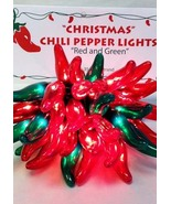 CHILI PEPPER PARTY STRING LIGHTS - CHRISTMAS 35 - R/G -- CINCO MEXICAN P... - $30.00