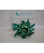 CHILI PEPPER PARTY STRING LIGHTS - TURQUOISE 35 - R/G -- CINCO MEXICAN P... - $30.00