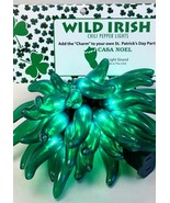 CHILI PEPPER PARTY STRING LIGHTS - GREEN - IRISH 35 -  CINCO MEXICAN PARTY - $30.00