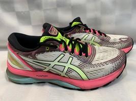 ASICS Gel Nimbus 21 Running Women's Shoes Size 9 White Pink 1012A502 - £40.03 GBP