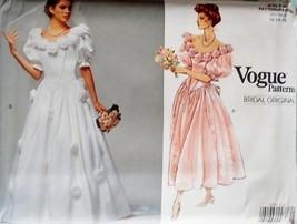 Vintage Pattern V2572 Bridal Gown 12-16  - $29.99