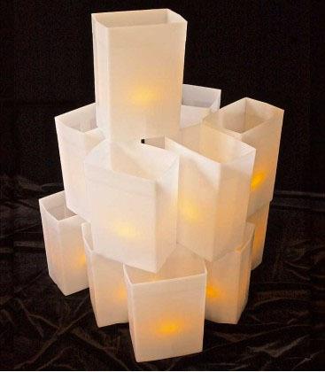 White luminary light sets electric walkway lights hard for Electric walkway lights