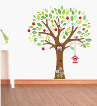 GIANT Owl Bird Tree Wall Sticker Decal Removabl... - $19.00