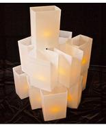 WHITE Luminary Light Set W/ Candles walkway lights - hard shell Plastic box - $150.00