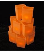 ORANGE Luminary Light Set W/ candle walkway lights - hard shell Plastic ... - $150.00