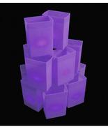 PURPLE luminary set W/ CANDLES - walkway lights hard shell Plastic box H... - $150.00