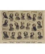 20 Famous CSA Commanders Civil War Poster Rebel Dixie Confederate Ad Print 1626 - $9.66