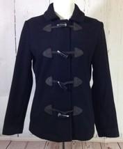GAP Black Wool Blend Duffel Coat Jacket w/ Horn Toggles Size Small - $32.10