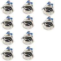 E Support 12mm Anti Vandal Momentary Metal Push Button Toggle Switch Pack of 10 - $17.86