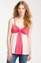 Ella Moss L Celia Colorblock Gathered Bandeau Camisole Top Rope Pink $98... - $15.84