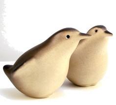 Pair mid century modern porcelain bird figurine... - $28.00