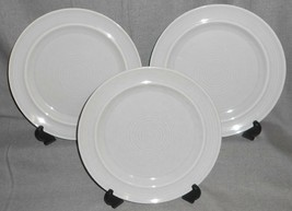 Set (3) Metlox Colorstax Gray Color Dinner Plates Made In California - $79.19