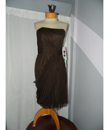 Jasmine size 10 Brown Cocktail Evening Cruise Party dress Strapless New ... - $49.99