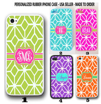 PERSONALIZE PINK LIME GREEN MOROCCAN TRELLIS MONOGRAM CASE FOR IPHONE 6 ... - $242,37 MXN+
