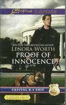 Proof of Innocence Lenora Worth(Bk6 Capitol K-9 Unit)(Love Inspired LP S... - $2.25