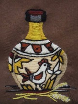 3 SUNSET DESIGNS 289 290 2288 FINISHED CREWEL INDIAN VASE 1970's Fits 5x... - $14.24
