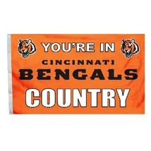 You're in Cincinnati Bengals Country 3x5' Flag NFL Premium Licensed Banner - $34.60