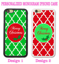 CHRISTMAS GREEN RED TRELLIS MOROCCAN MONOGRAM CASE FOR IPHONE 6 6 PLUS 4... - $12.99+
