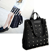 Fashion Casual Style Womens Rivet Canvas Tote H... - $15.09