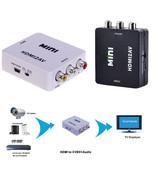 Mini Composite 720p 1080P HDMI to 3RCA Audio Video AV CVBS Adapter Conve... - $12.99