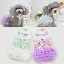 Pet Small Dog Lace Skirt TUTU Dress Puppy Dog/Cat Wedding Dress Clothes ... - $11.88