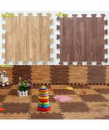 30*30cm Imitation Wood Foam Exercise Floor Mats Gym Garage Kids Play Mats - $16.81+