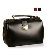 Vintage Womens Faux Leather Tote Handbag Shoulder Crossbody Messenger Do... - $27.50