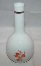 Vintage Mikasa Imperial Garden Flower Bud Vase Orange White Gold Floral Japan - $26.10