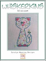 Blossom Whiskerins cat cross stitch chart CM Designs - $7.20