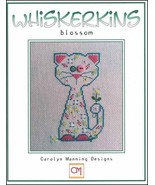 Blossom Whiskerins cat cross stitch chart CM Designs - $7.20