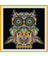 Happy Owl cross stitch Alessandra Adelaide Needlework - $16.20