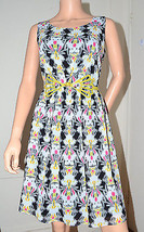 Miss Sixty M60 $128 Susanna Ditsy Floral Print Dress with Belt size 4 Sm... - $39.57
