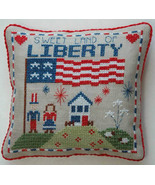 Liberty Pillow cross stitch chart Tiny Modernist Inc - $7.20
