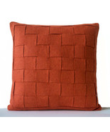 Orange Decorative Pillow Cover Felt Weave Throw... - $61.50