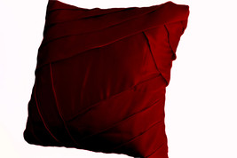Decorative Pillows In Deep Red Satin With Luxur... - $45.50