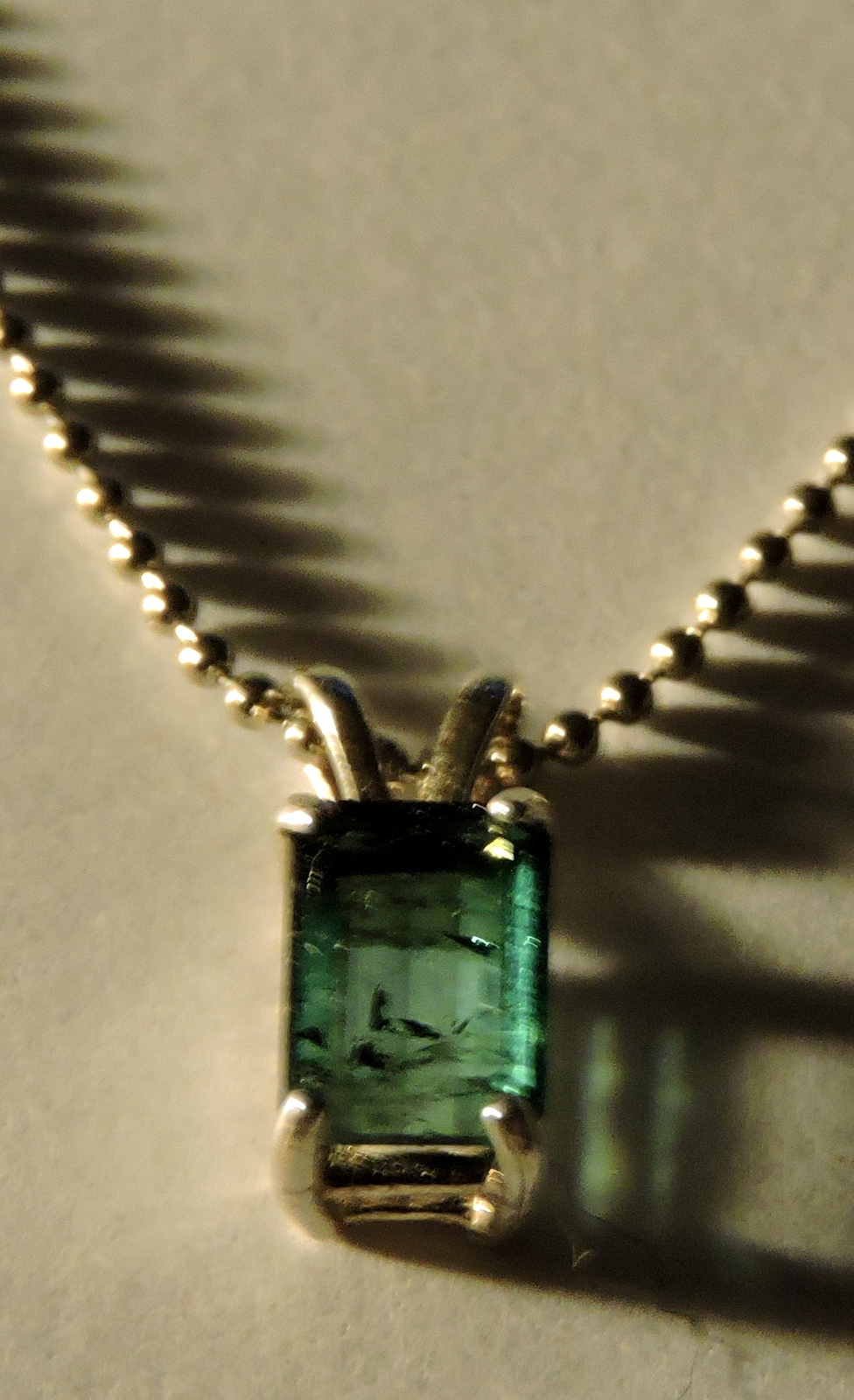 Lovely Faceted Octagon Cut 7x5mm Blue Indicolite Tourmaline Pendant  Necklace