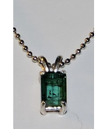 Lovely Faceted Octagon Cut 7x5mm Blue Indicolite Tourmaline Pendant  Nec... - $75.00