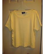 Liz Claiborne Yellow-Mustard Short Sleeve Size M - $12.89