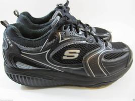 Skechers Shape Ups XF Accelerators Fashion Sneakers Size 7.5 Black Silver - £14.92 GBP