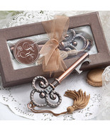 10 Vintage Skeleton Key Bottle Opener Wedding Favor Reception Gift Party... - $26.81