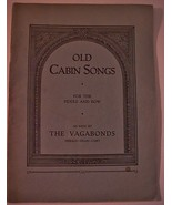 "Antique Book ""Old Cabin Songs"" Fiddle & Bow -Th... - $29.65"