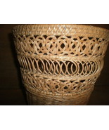 "Wicker Basket with Beautiful Design 10 "" x 10 "" - $20.00"