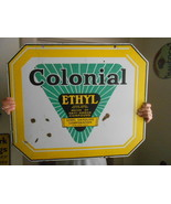 Vintage Sign Original Colonial Ethyl Gasoline D... - $1,748.35