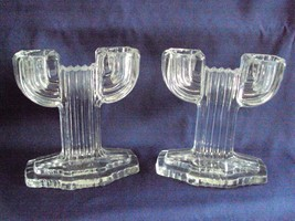 Pair Queen Mary Candlesticks Two Light Anchor H... - $27.00